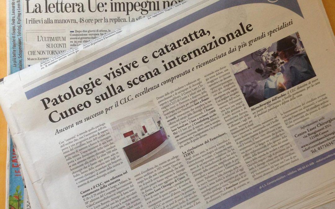 Innovazione nella chirurgia della cataratta, ne parla la Stampa!