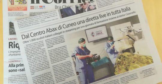 Chirurgia della cataratta Live: ne parla anche il Corriere
